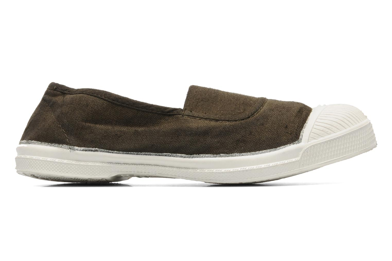 Ballet pumps Bensimon Tennis Elastique E Brown back view