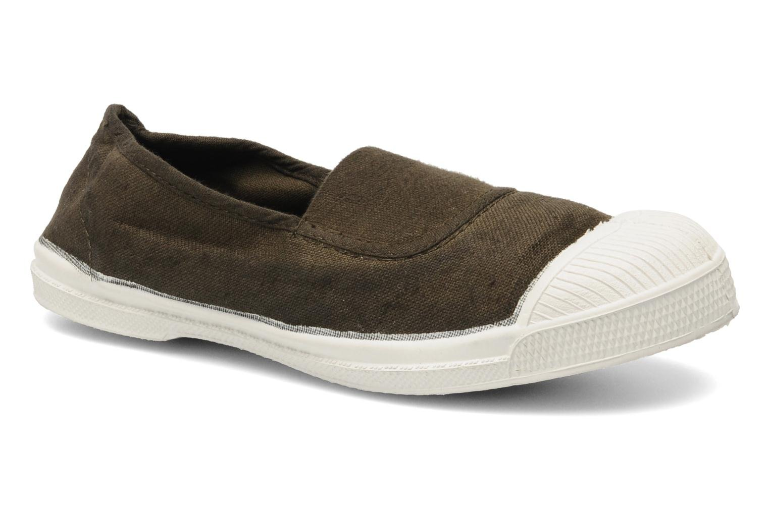 Ballet pumps Bensimon Tennis Elastique E Brown detailed view/ Pair view