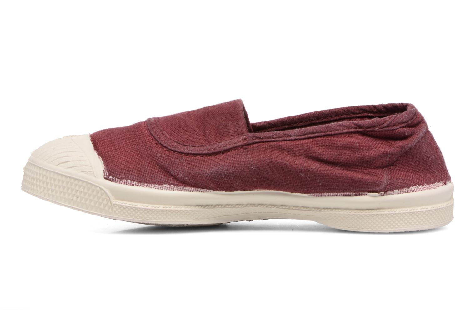Ballerines Bensimon Tennis Elastique E Rouge vue face