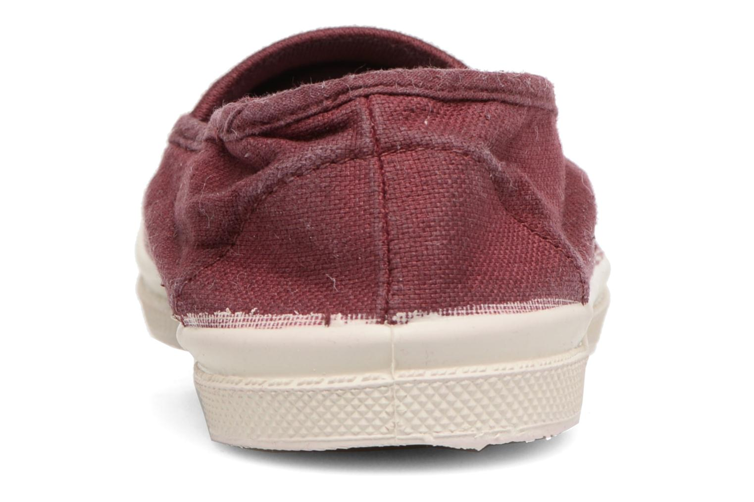 Ballet pumps Bensimon Tennis Elastique E Red view from the right