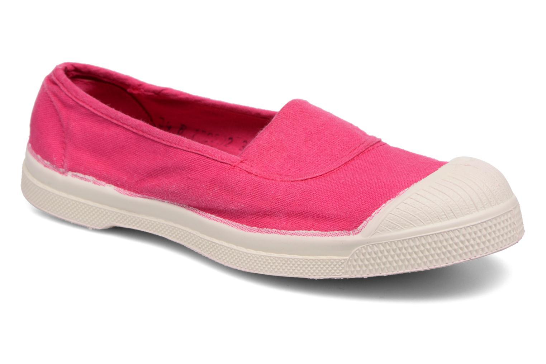 Ballet pumps Bensimon Tennis Elastique E Pink detailed view/ Pair view