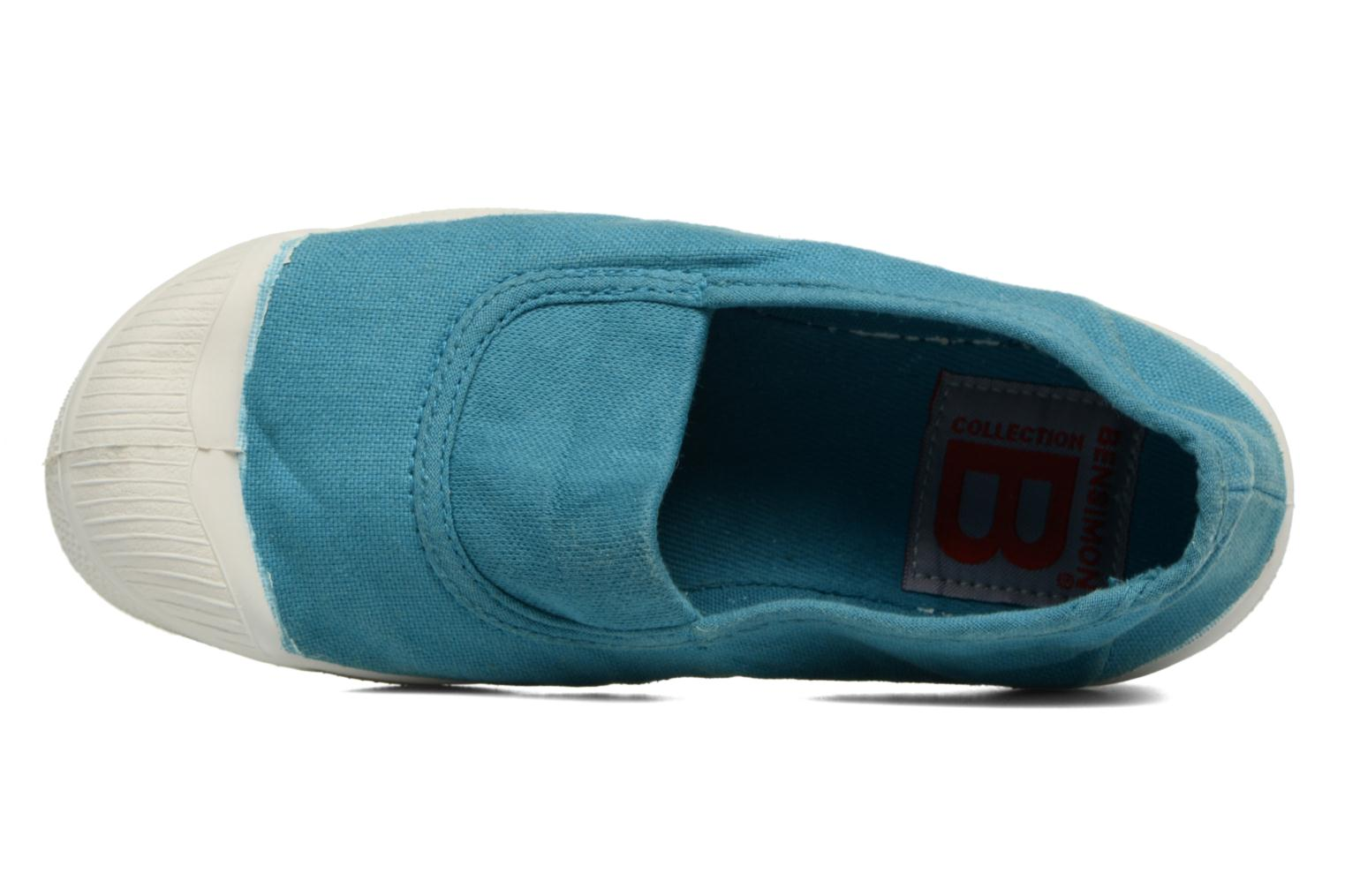 Ballet pumps Bensimon Tennis Elastique E Blue view from the left