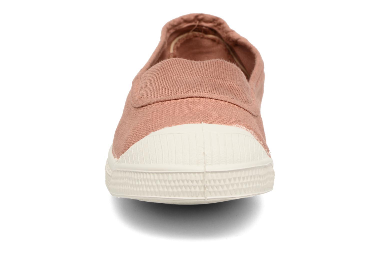 Ballerines Bensimon Tennis Elastique E Marron vue portées chaussures