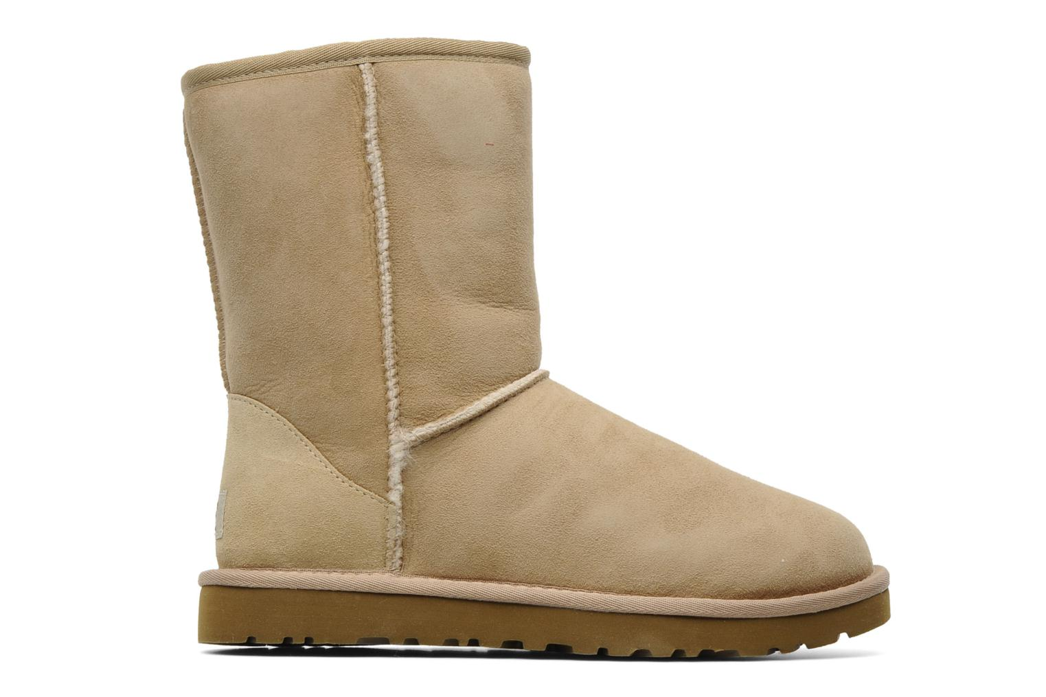Ankle boots UGG Classic Short Beige back view