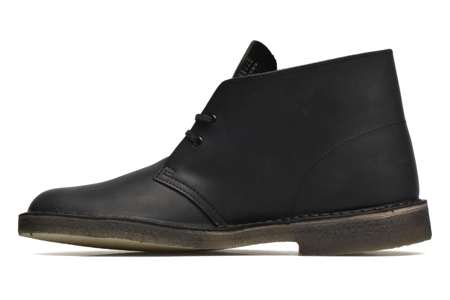 Lace-up shoes Clarks Desert Boot Black front view