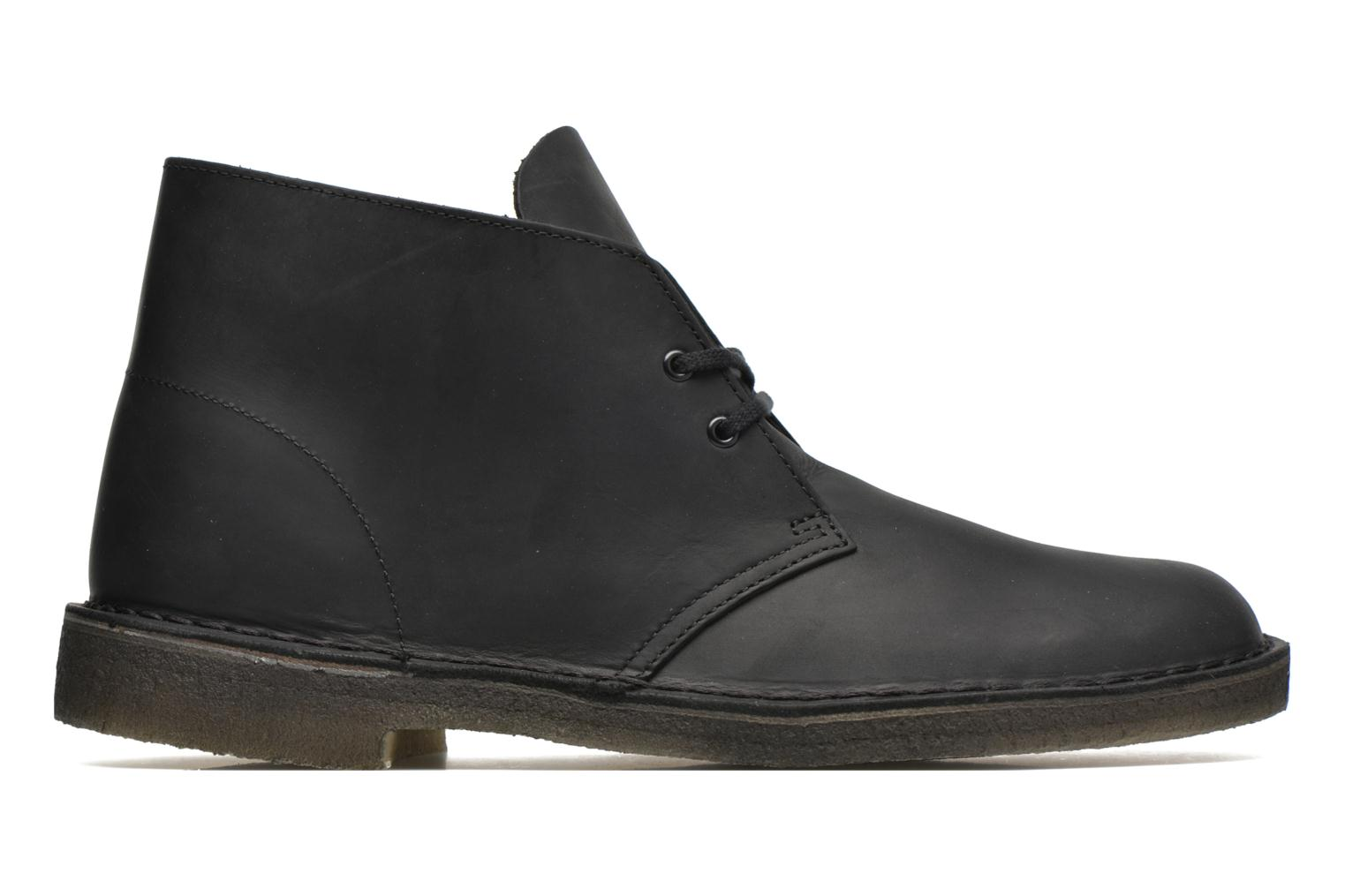 Lace-up shoes Clarks Desert Boot Black back view