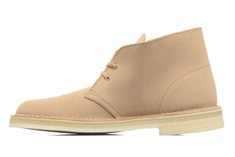 Chaussures à lacets Clarks Desert Boot M Beige vue face