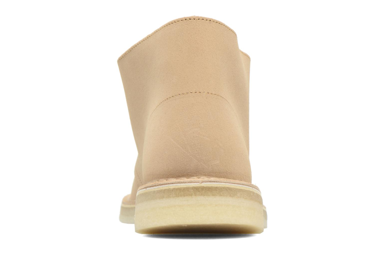 Bottines et boots Clarks Desert Boot M Beige vue droite