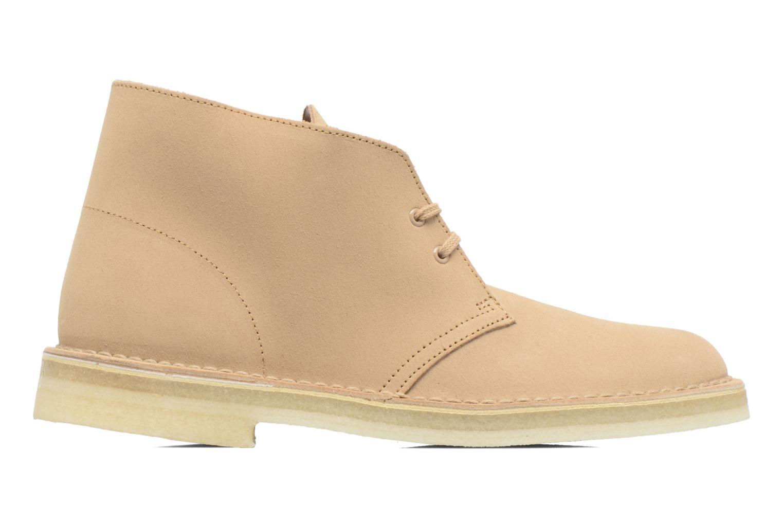 Chaussures à lacets Clarks Desert Boot M Beige vue derrière