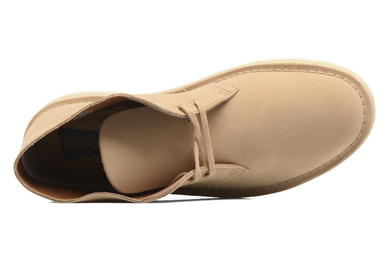 Chaussures à lacets Clarks Desert Boot M Beige vue gauche