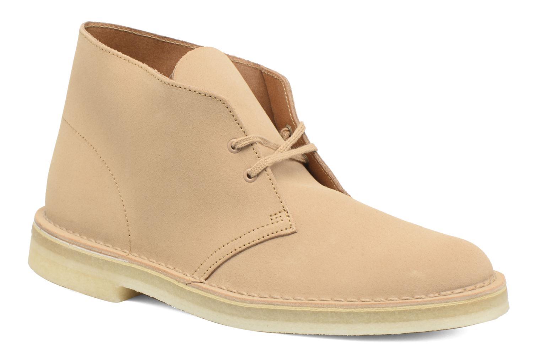 Chaussures à lacets Clarks Desert Boot M Beige vue détail/paire