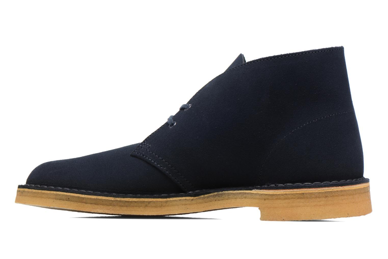 Bottines et boots Clarks Desert Boot M Bleu vue face