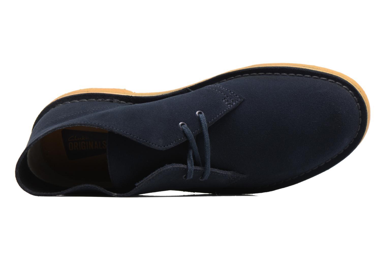 Bottines et boots Clarks Desert Boot M Bleu vue gauche