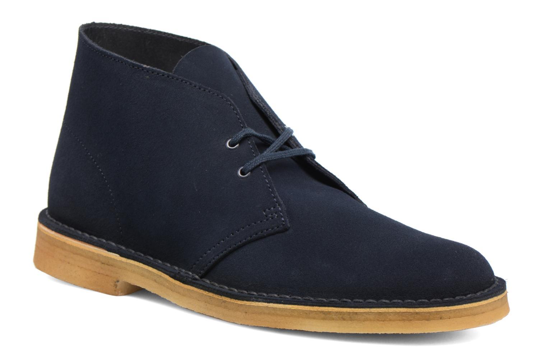 Bottines et boots Clarks Desert Boot M Bleu vue détail/paire