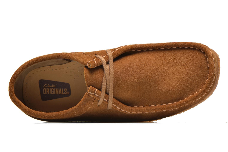 Chaussures à lacets Clarks Originals Wallabee M Marron vue gauche