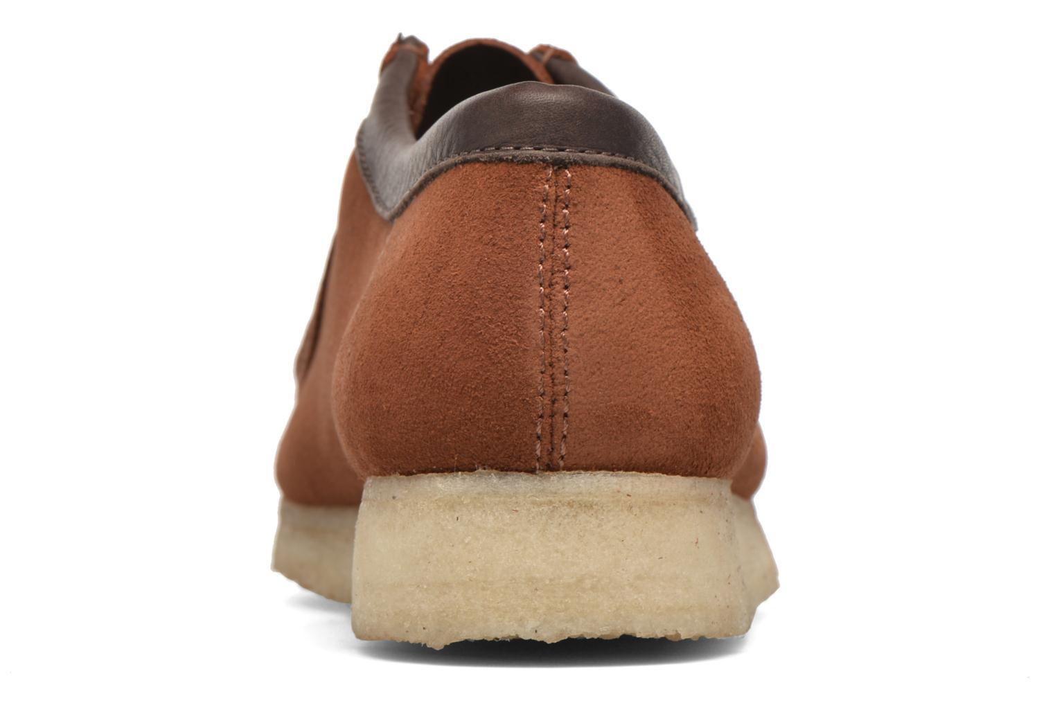 Chaussures à lacets Clarks Originals Wallabee M Marron vue droite
