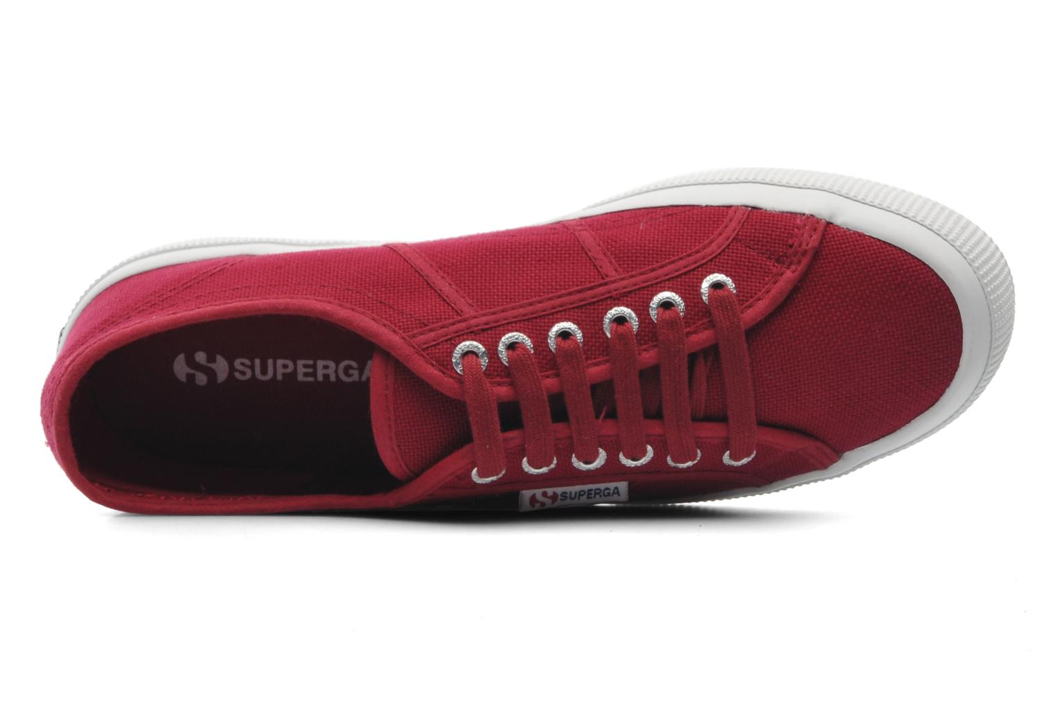 Trainers Superga 2750 Cotu M Burgundy view from the left