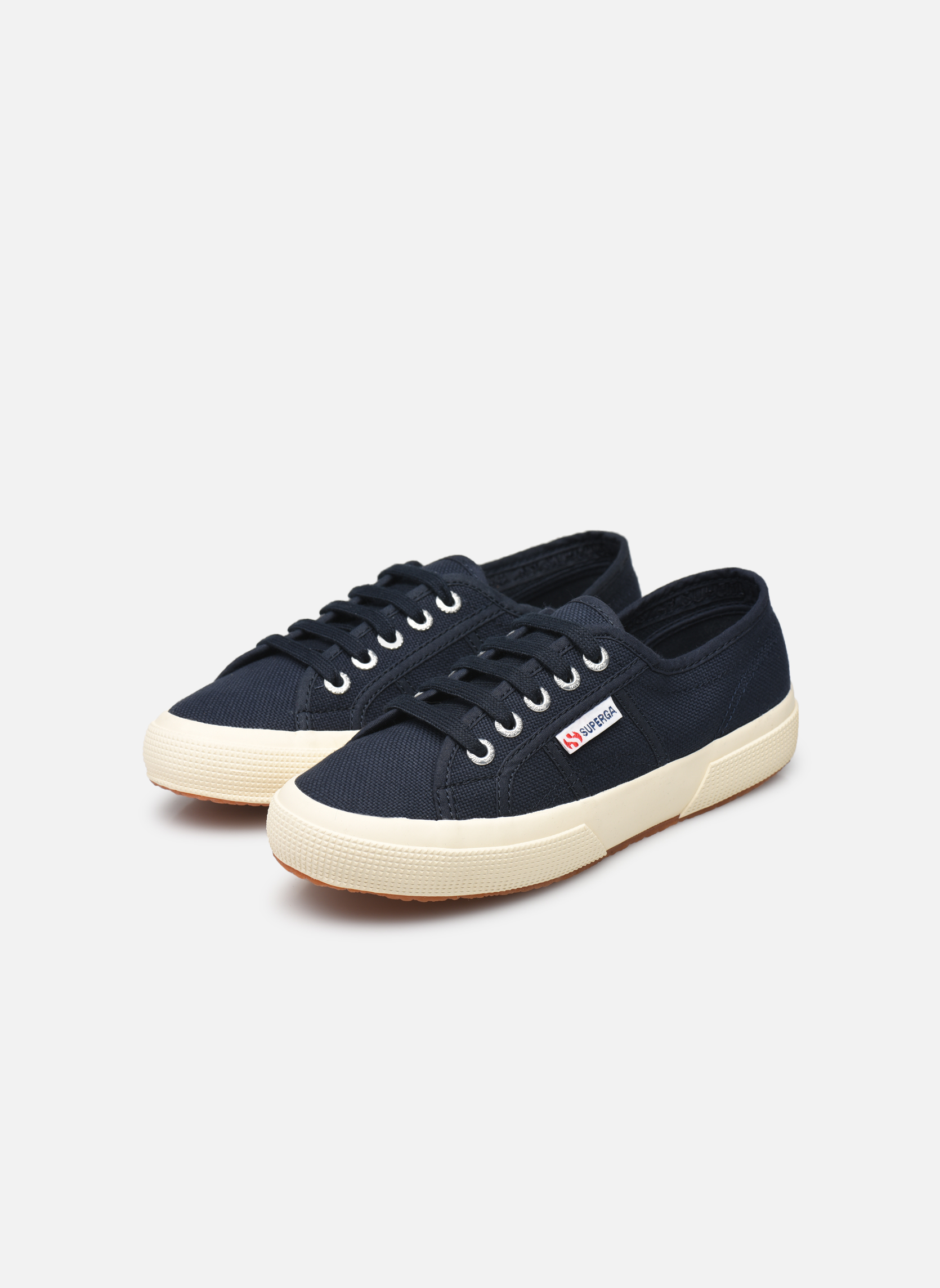 Trainers Superga 2750 Cotu W Blue view from underneath / model view