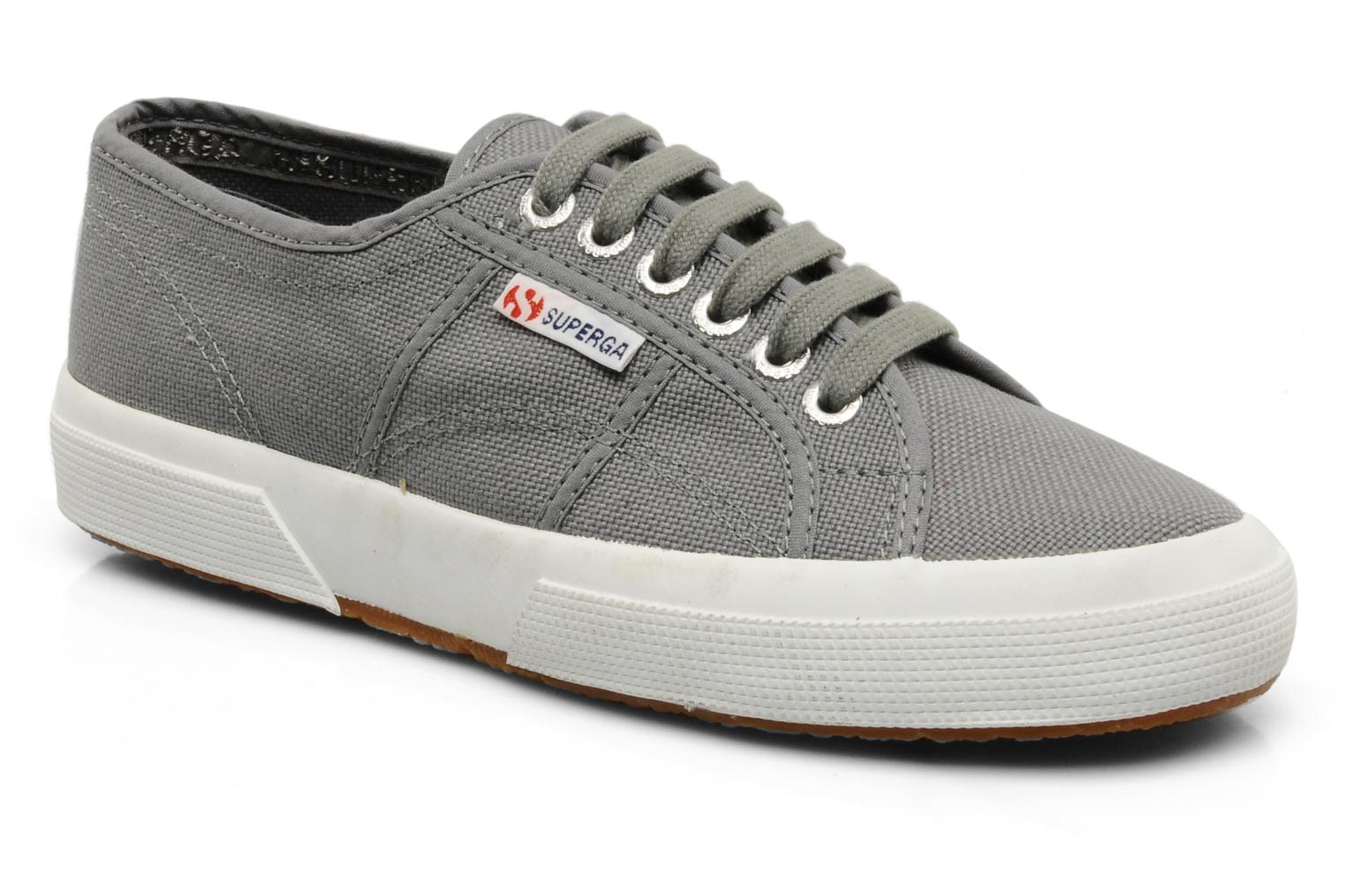 Trainers Superga 2750 Cotu W Grey detailed view/ Pair view