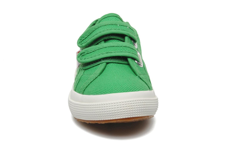 Baskets Superga 2750 J Velcro E Vert vue portées chaussures
