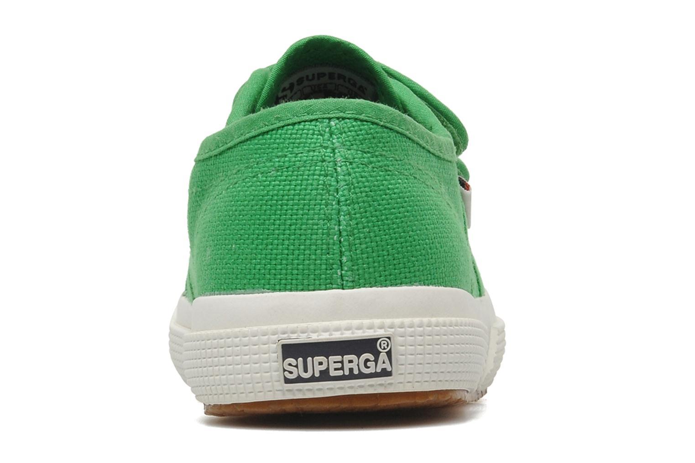 Baskets Superga 2750 J Velcro E Vert vue droite