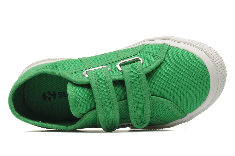 Baskets Superga 2750 J Velcro E Vert vue gauche