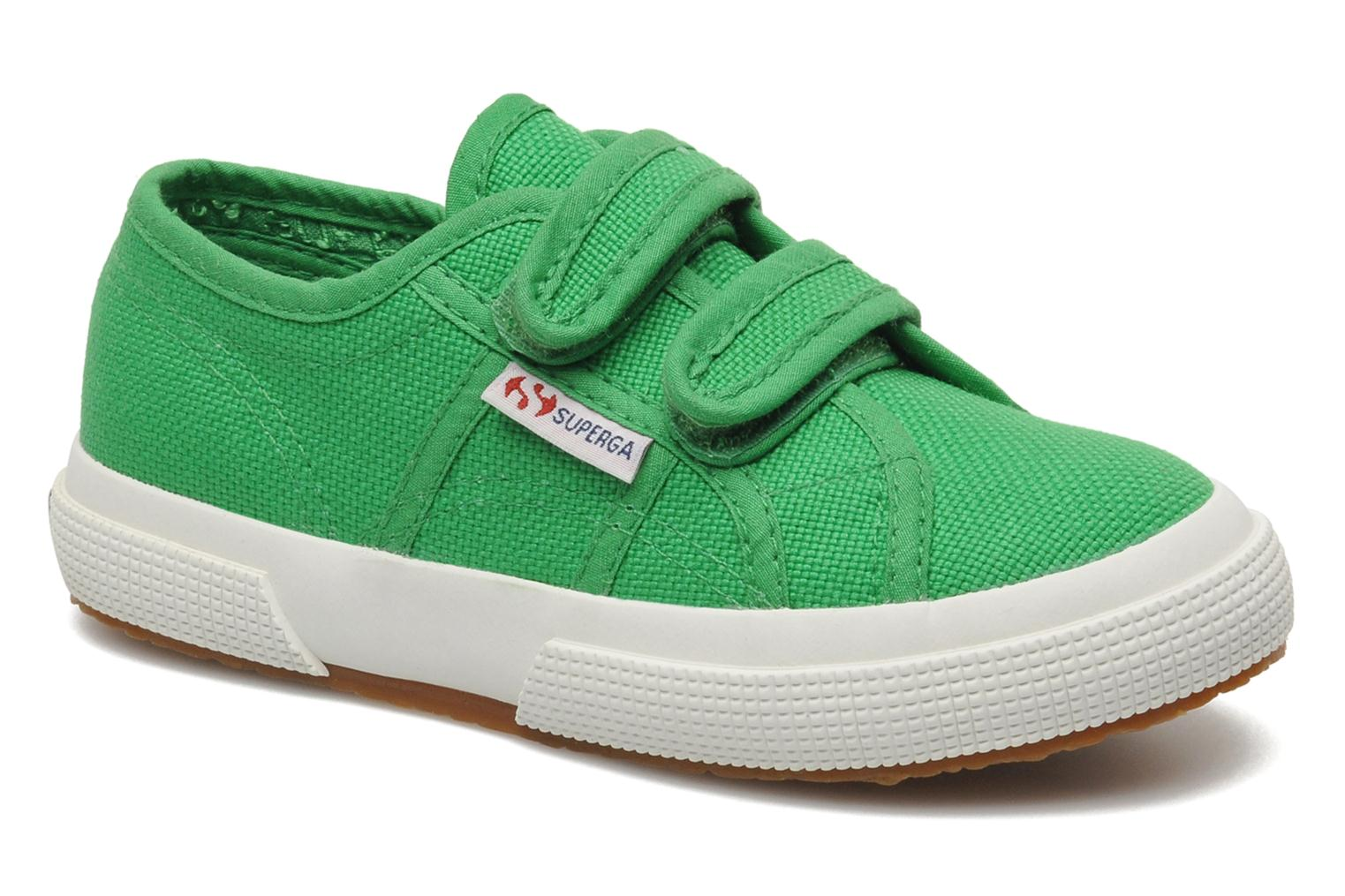 Trainers Superga 2750 J Velcro E Green detailed view/ Pair view