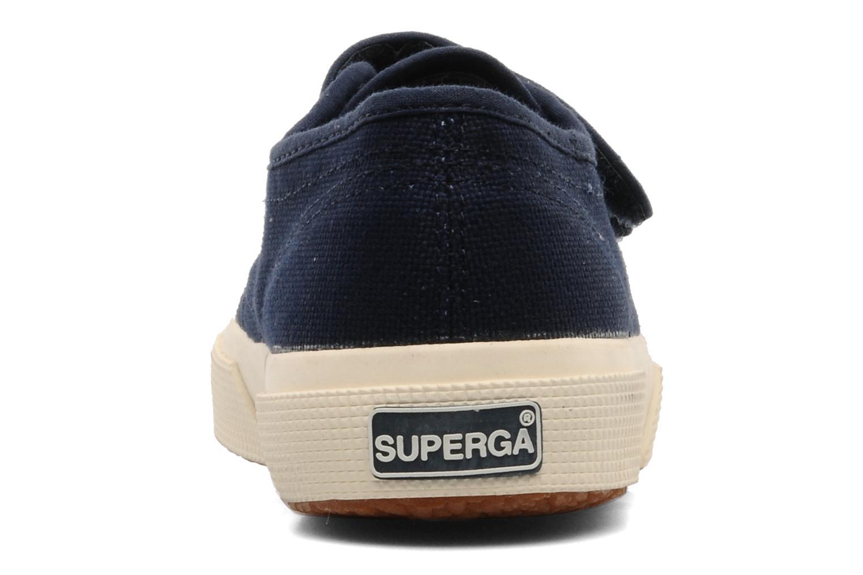 Sneaker Superga 2750 J Velcro E blau ansicht von rechts