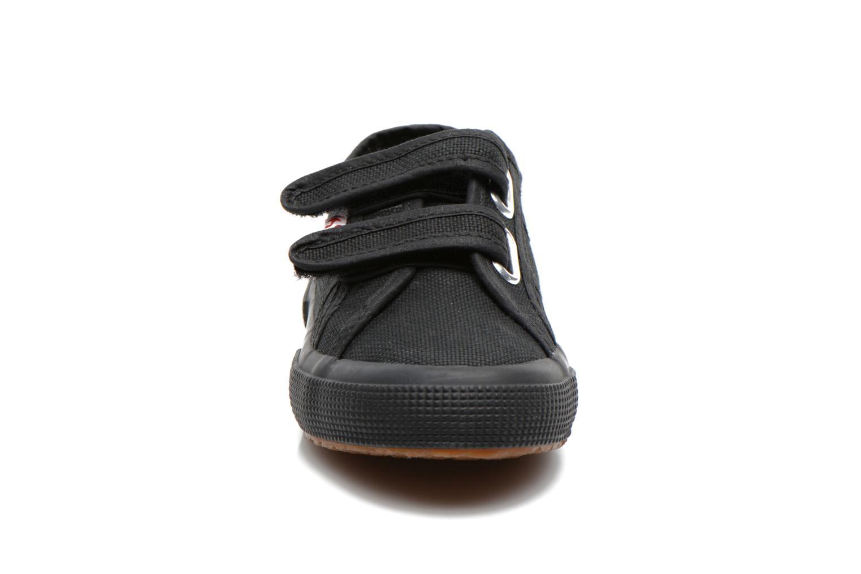 Sneaker Superga 2750 J Velcro E schwarz schuhe getragen