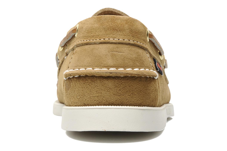 Chaussures à lacets Sebago Docksides M Beige vue droite
