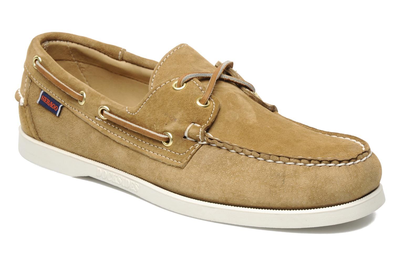 Chaussures à lacets Sebago Docksides M Beige vue détail/paire