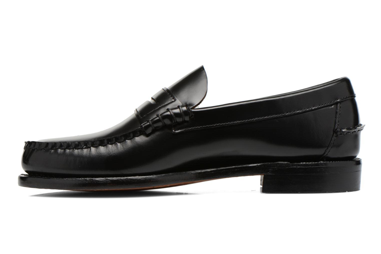 Slipper Sebago Classic schwarz ansicht von vorne