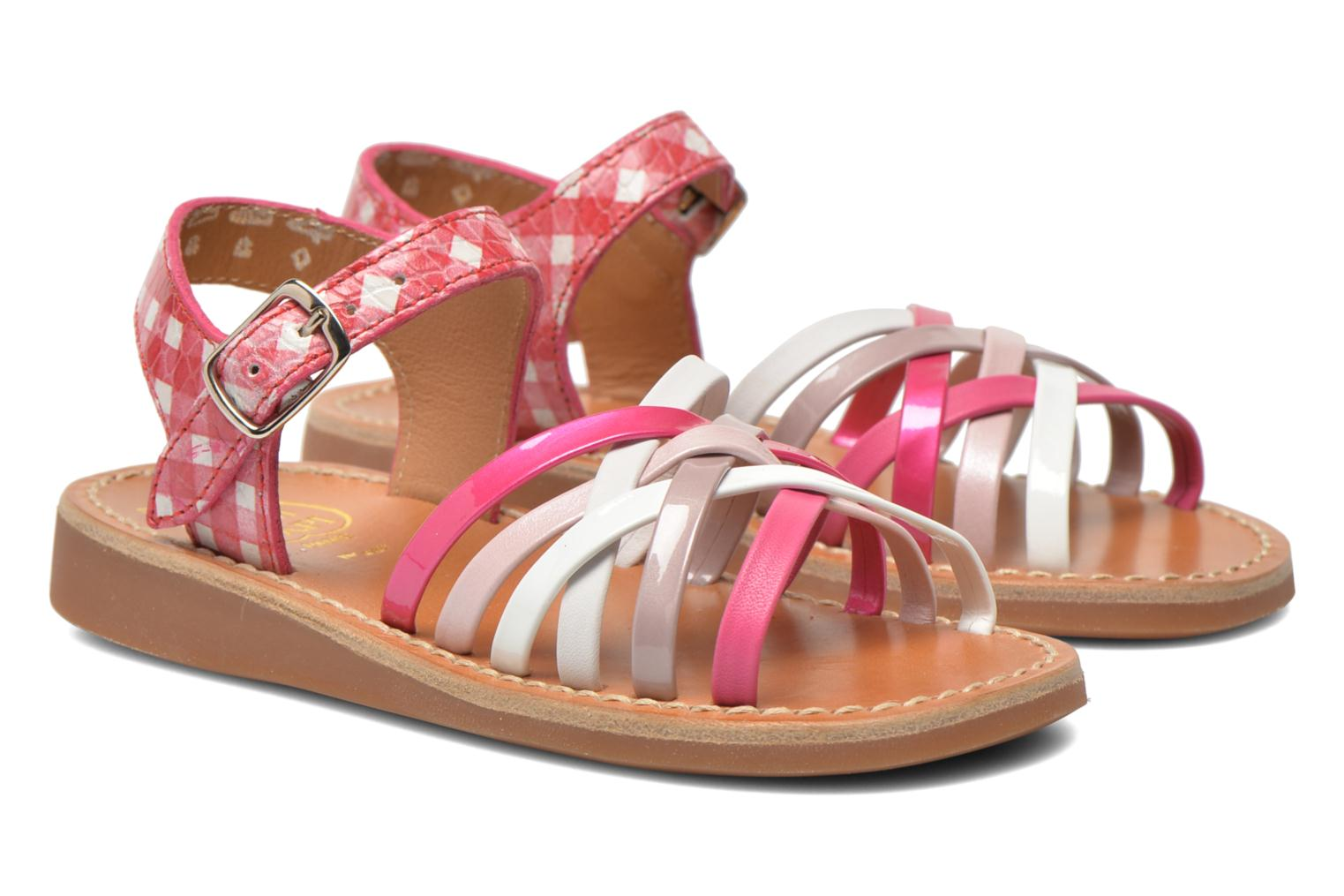 Sandals Pom d Api Yapo Lux Pink 3/4 view