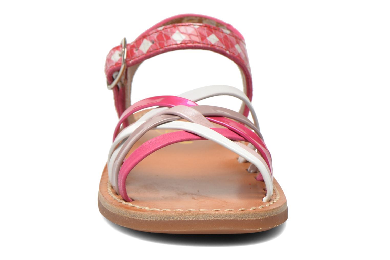 Sandalen Pom d Api Yapo Lux rosa schuhe getragen