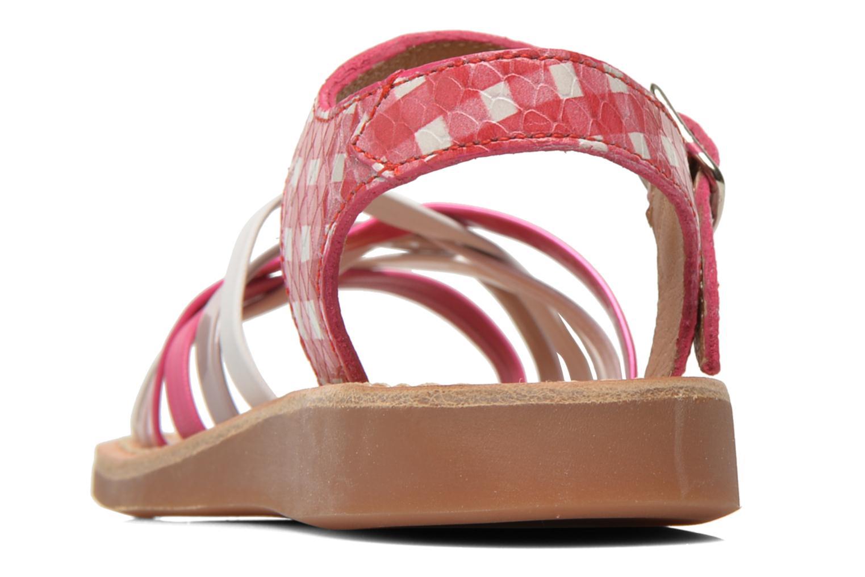 Sandalen Pom d Api Yapo Lux rosa ansicht von rechts