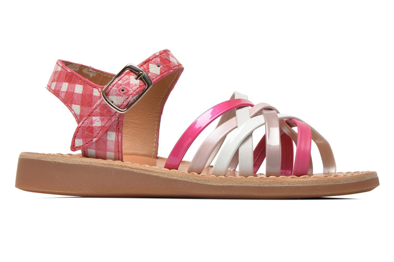 Sandales et nu-pieds Pom d Api Yapo Lux Rose vue derrière
