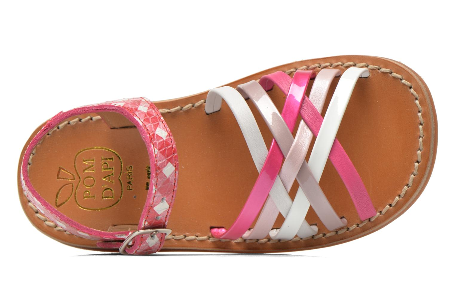Sandals Pom d Api Yapo Lux Pink view from the left