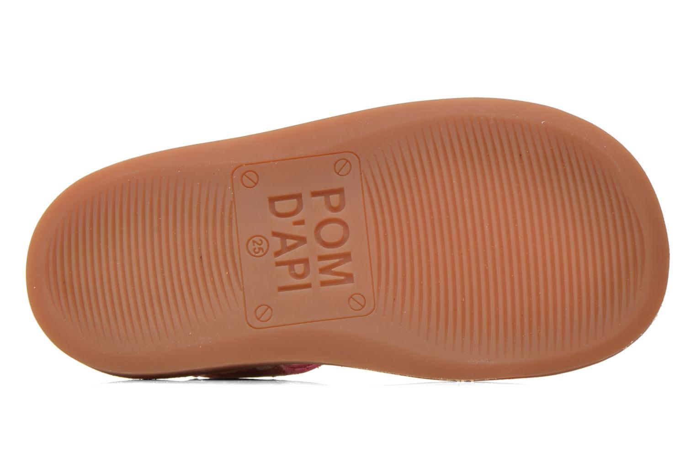 Sandales et nu-pieds Pom d Api Yapo Lux Rose vue haut