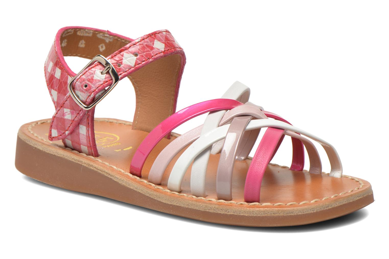 Sandals Pom d Api Yapo Lux Pink detailed view/ Pair view
