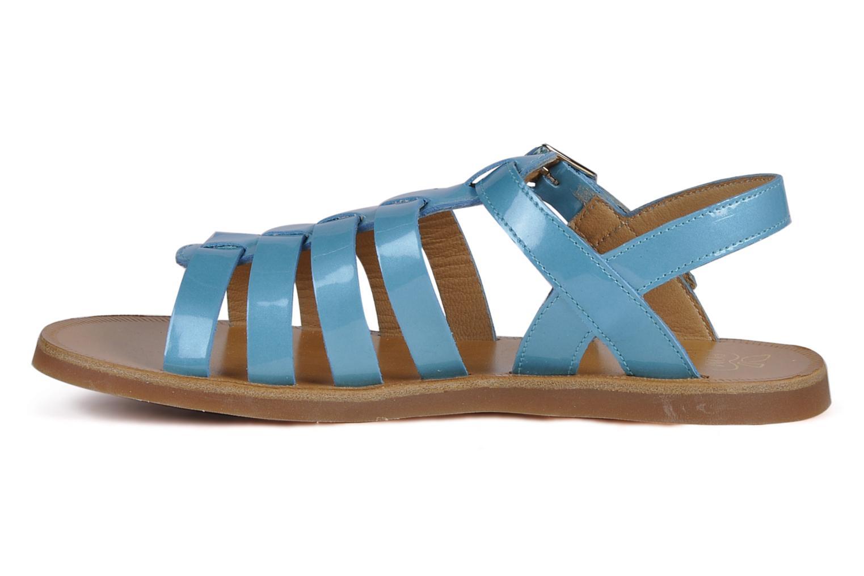 Sandalen Pom d Api Plagette Straps blau ansicht von vorne
