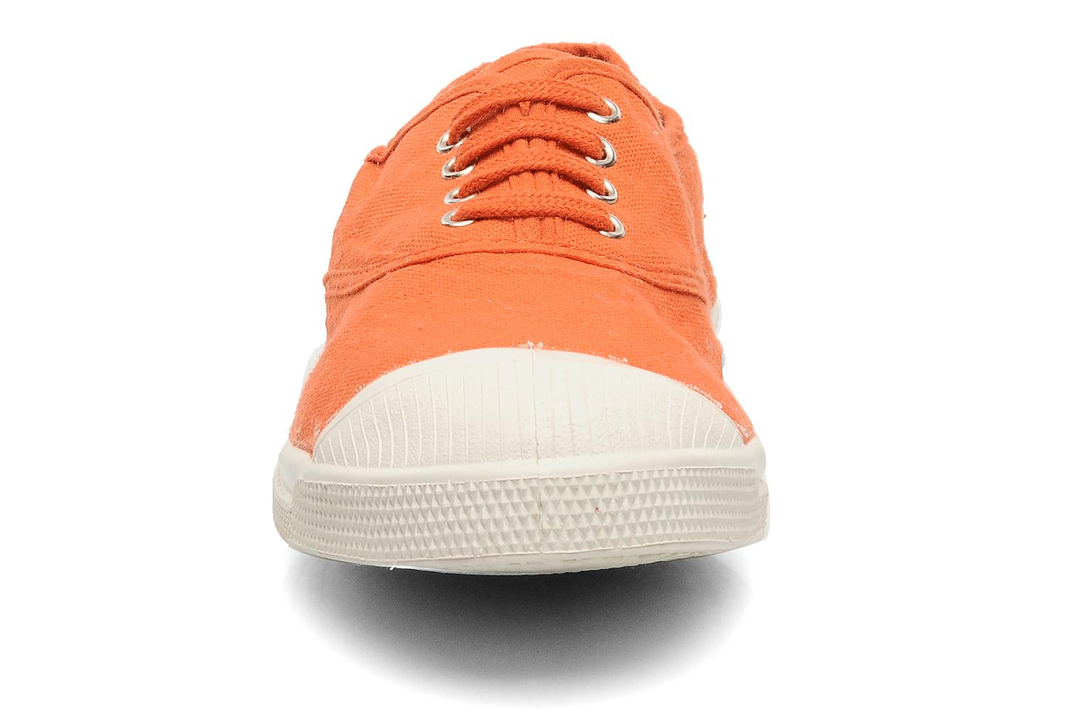 Sneaker Bensimon Tennis Lacets orange schuhe getragen