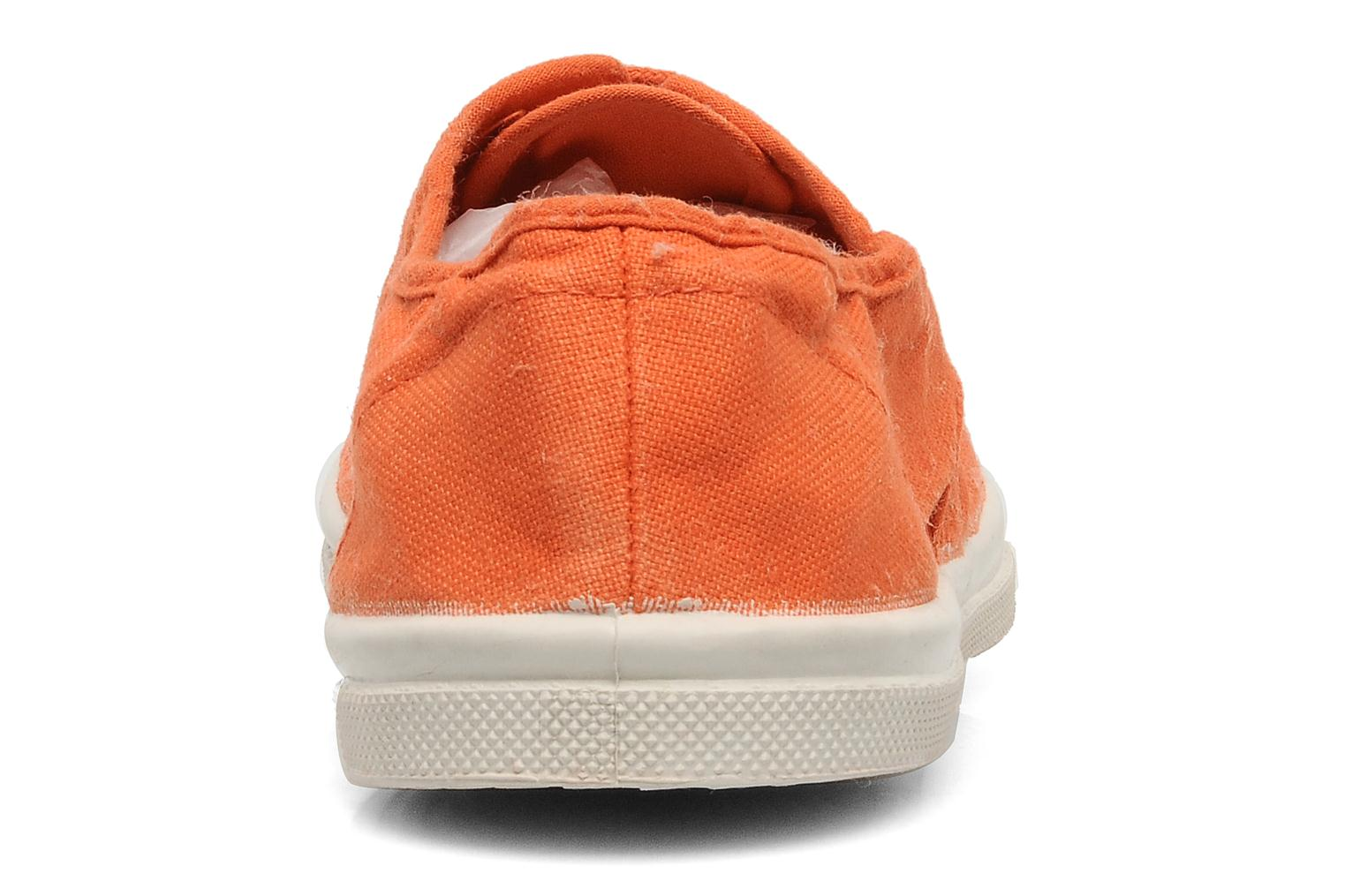 Trainers Bensimon Tennis Lacets Orange view from the right
