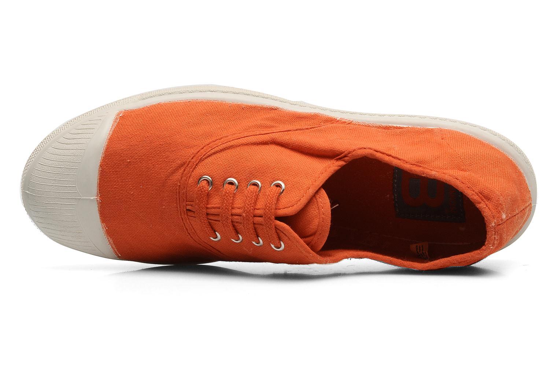 Sneaker Bensimon Tennis Lacets orange ansicht von links