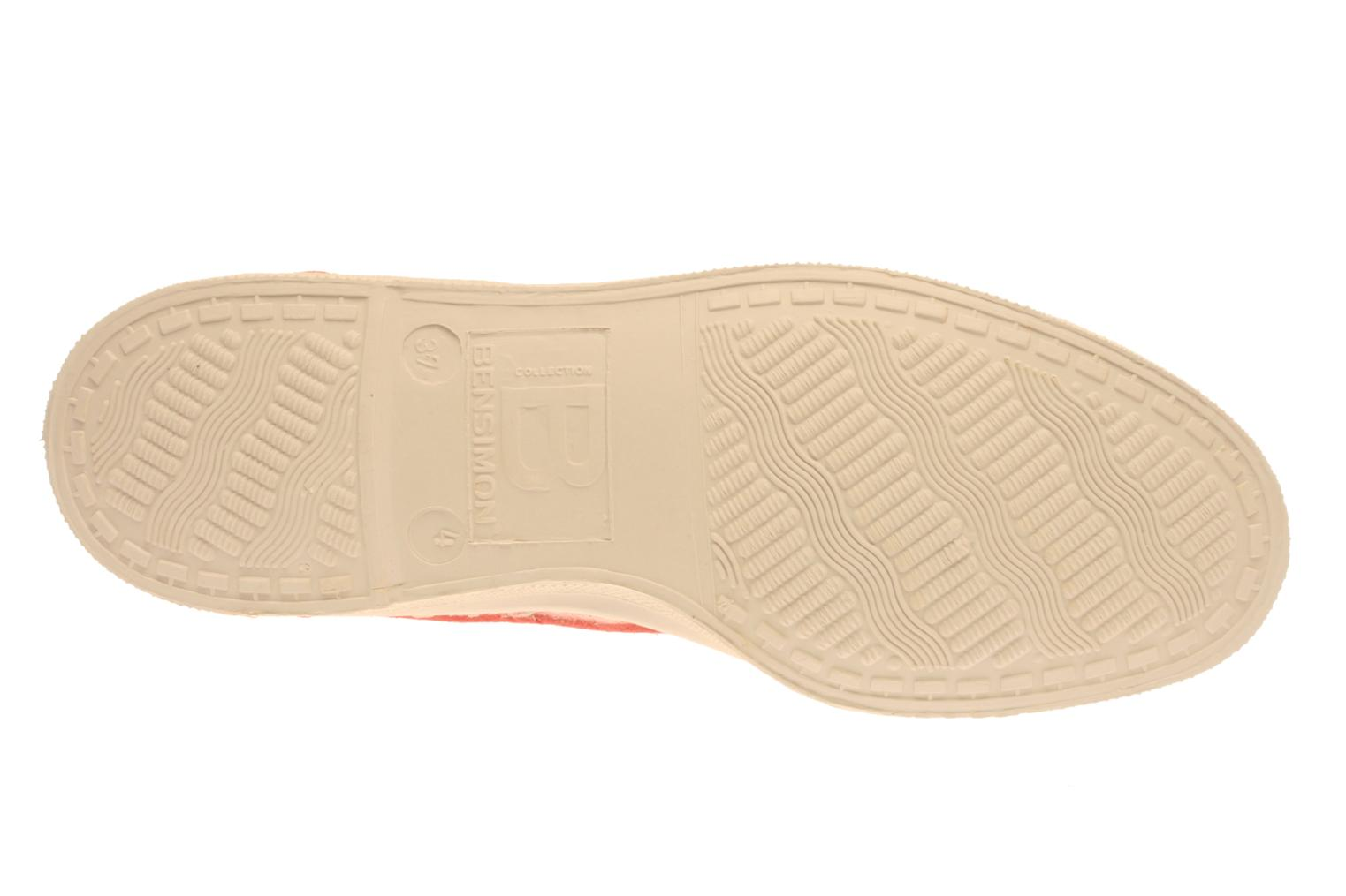 Trainers Bensimon Tennis Lacets Pink view from above