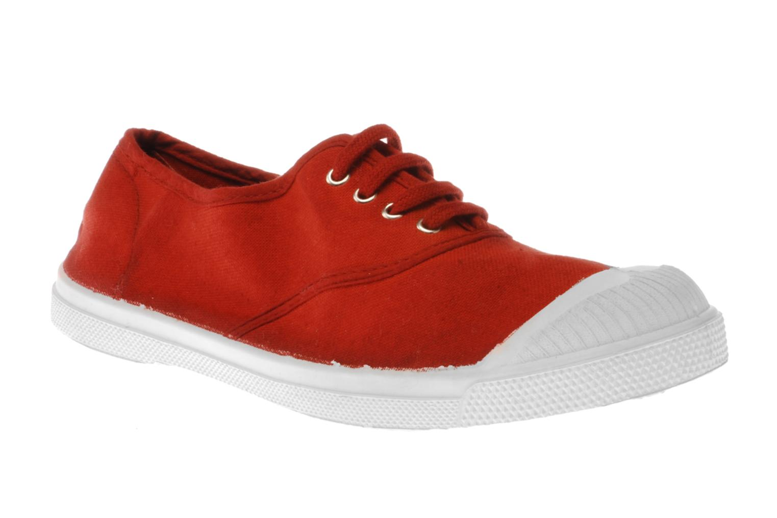 Trainers Bensimon Tennis Lacets Red detailed view/ Pair view
