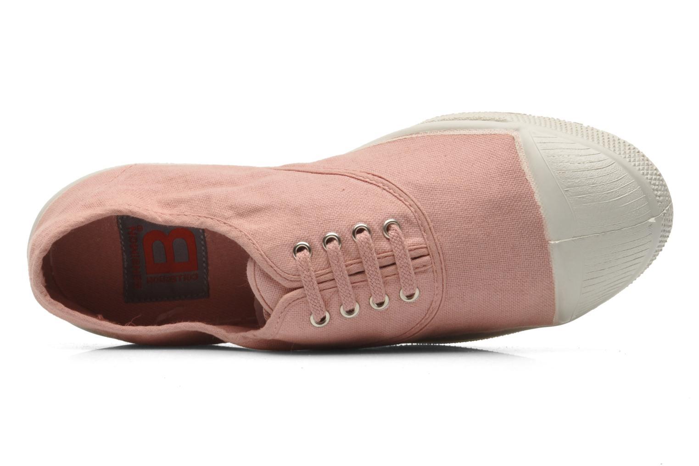 Sneaker Bensimon Tennis Lacets rosa ansicht von links
