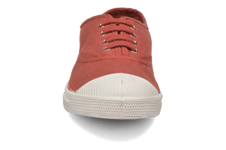 Sneaker Bensimon Tennis Lacets rot schuhe getragen