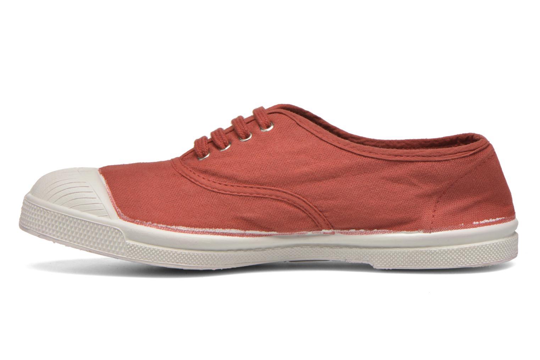 Sneaker Bensimon Tennis Lacets rot ansicht von vorne