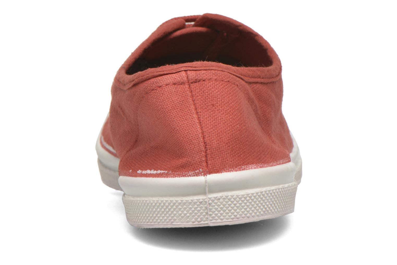 Sneaker Bensimon Tennis Lacets rot ansicht von rechts