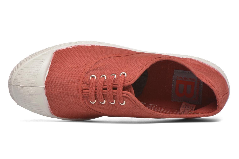 Sneaker Bensimon Tennis Lacets rot ansicht von links